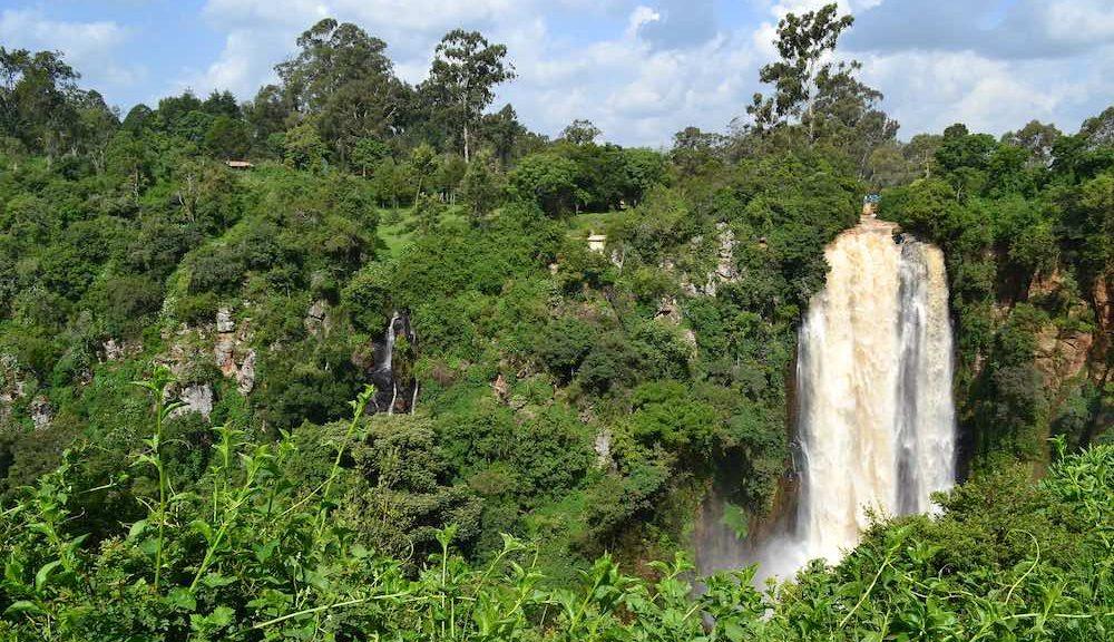Chute sauvage en éthiopie